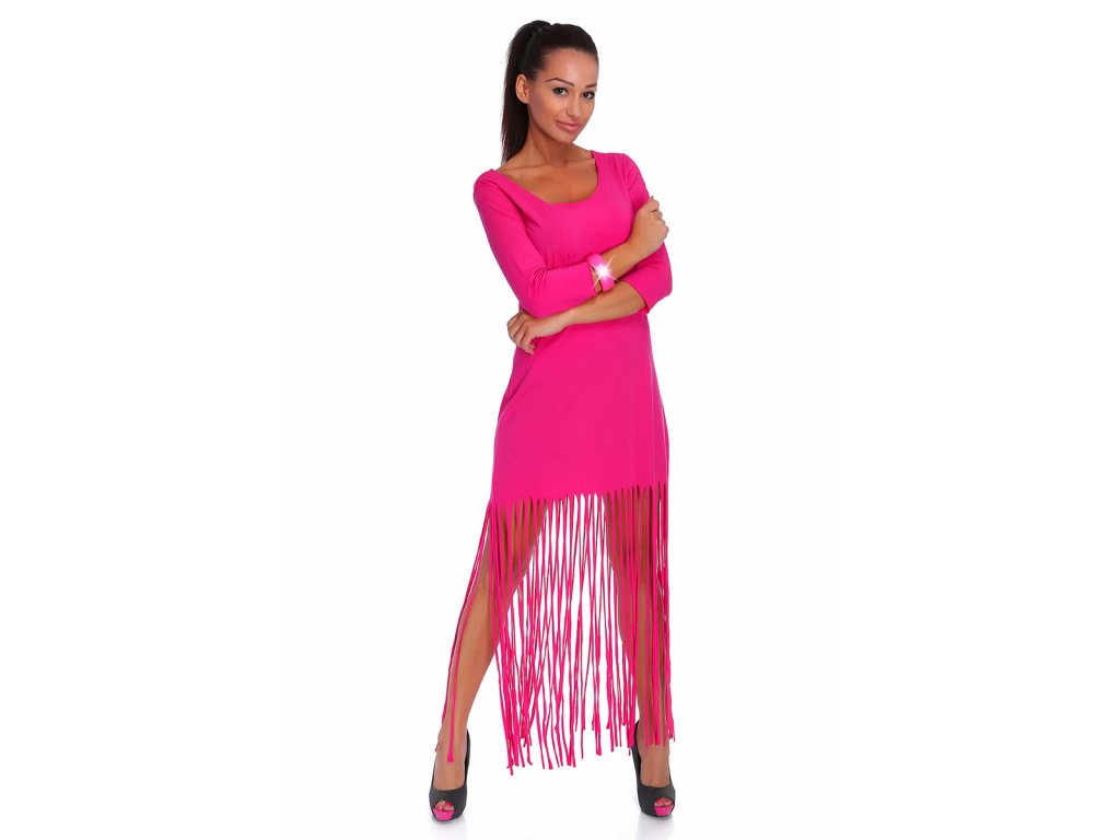 Módne dlhé šaty so strapcami Hits - fashionweek-moda.sk 47ecf782995