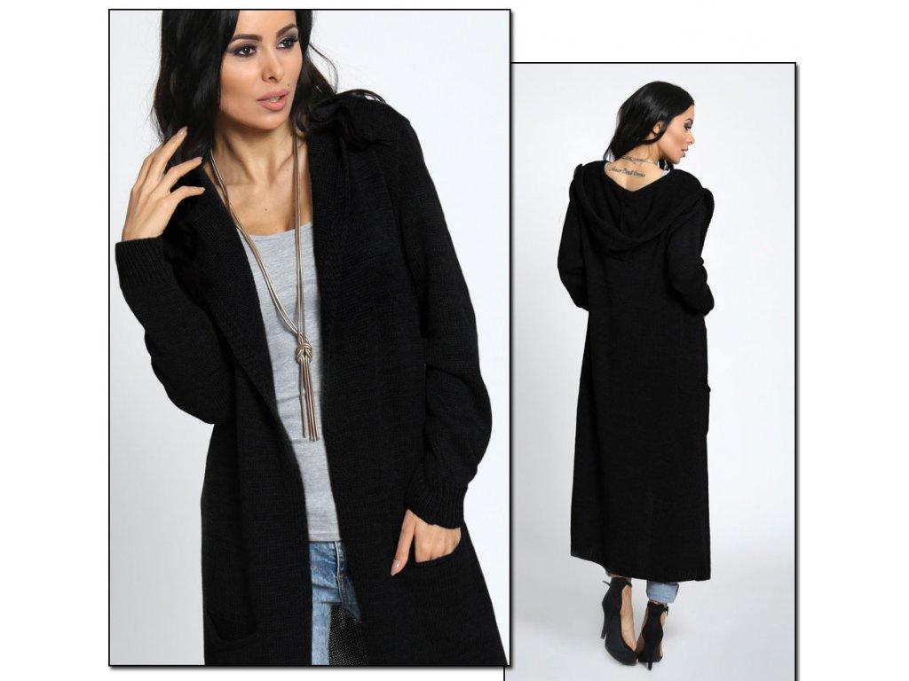 Neobvyklý pletený kabát s kapucňou NOBIX - fashionweek-moda.sk ac6a5b1024c