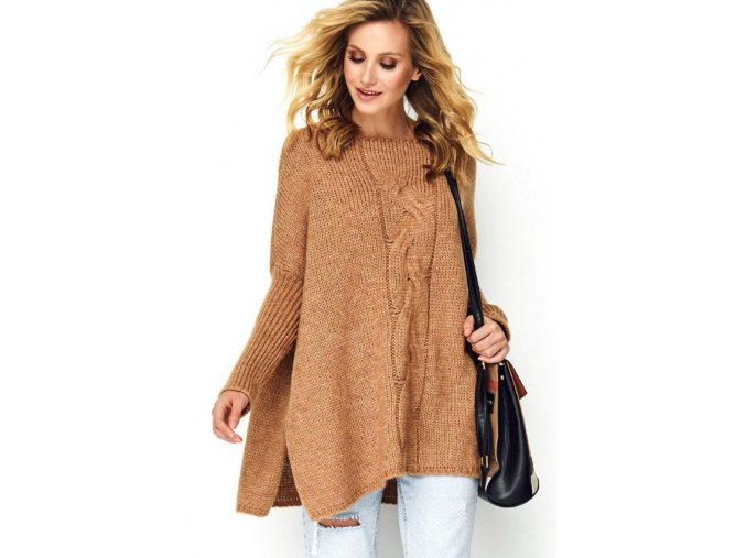 Pletený vlnený sveter tlstý, teplý oversized OLIVIA