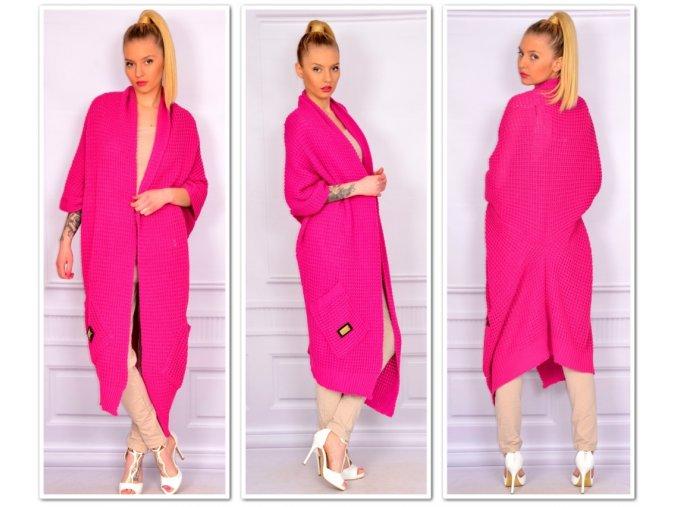 Luxusný neobvyklý pletený sveter Anna neón