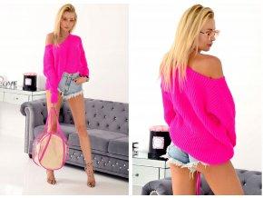 Luxusni, pohodlný pletený svetr AFRODYTA SV047/6841