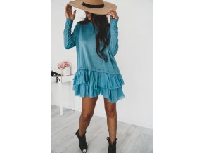 Exkluzívne talianske šaty s volánikmi MAY
