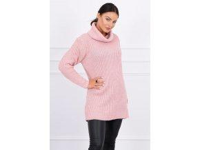 Oversized sveter,tunika s rolákom pre chladné dni K2019-3