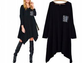 Pohodlné teplákové šaty s vreckom rock style MD483 L/XXL