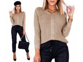 Pletený svetr s výstrihem do V BRAND100