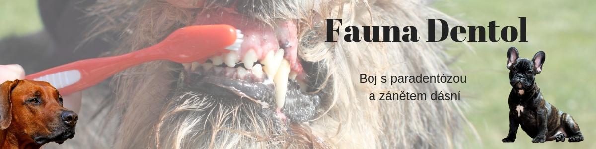 FAUNA DENTOL odstranění zubního kamene, zánět dásní, boj s paradentózou (pes, kočka, králík, morče, aj.)