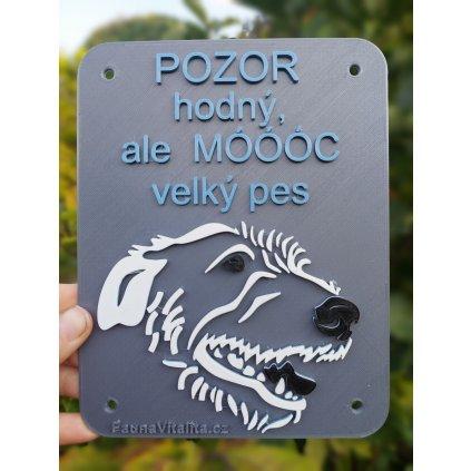 Vlkodav hlava - Cedule na plot, dvěře