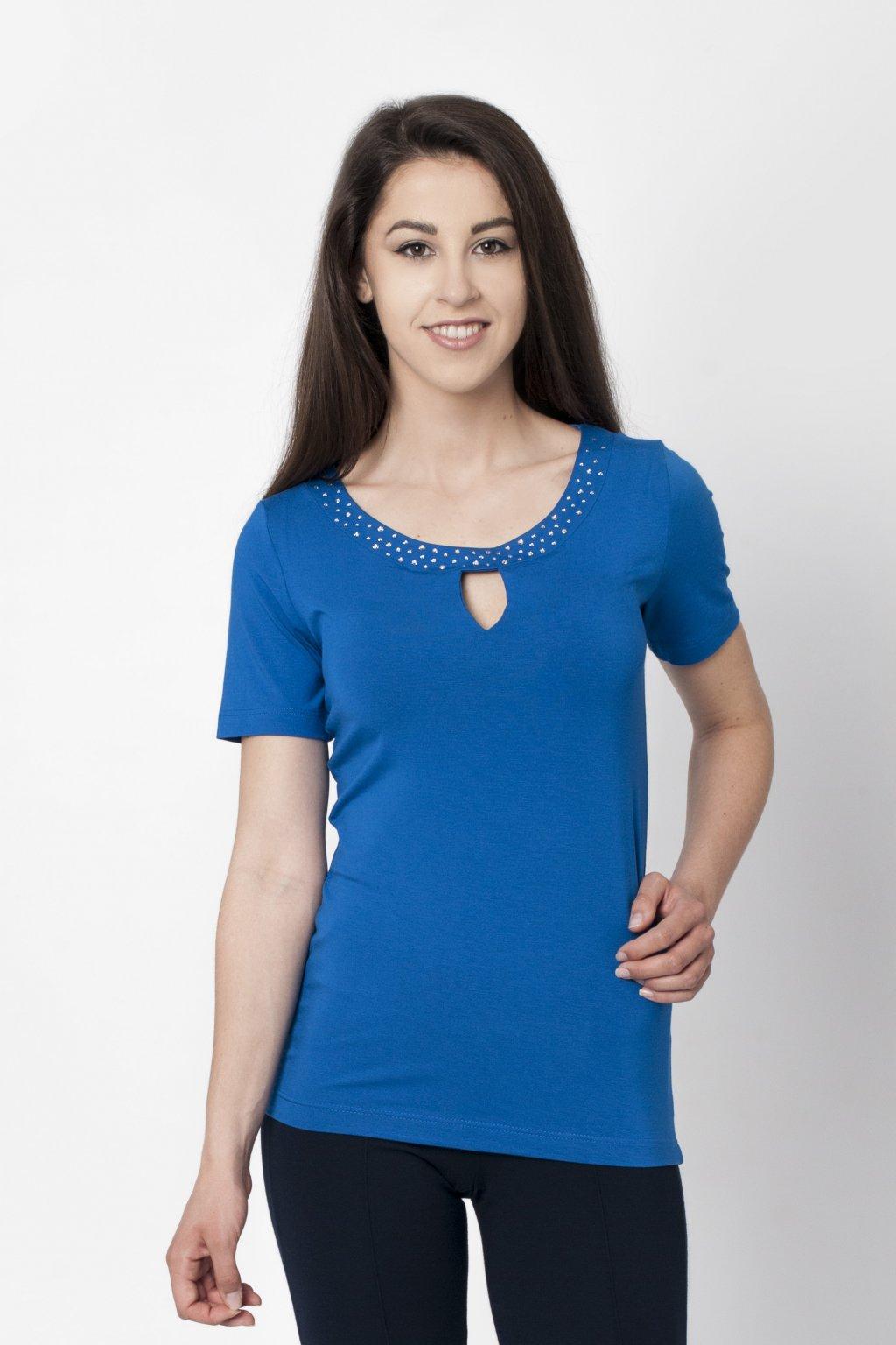kráľovské modré tričko