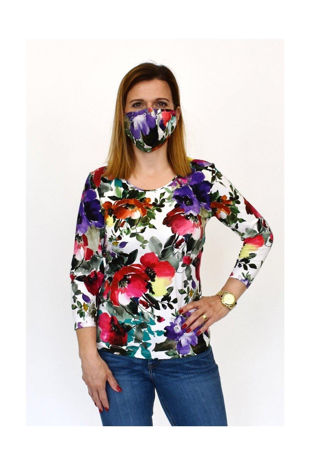 dámska móda tričko ochranné rúško
