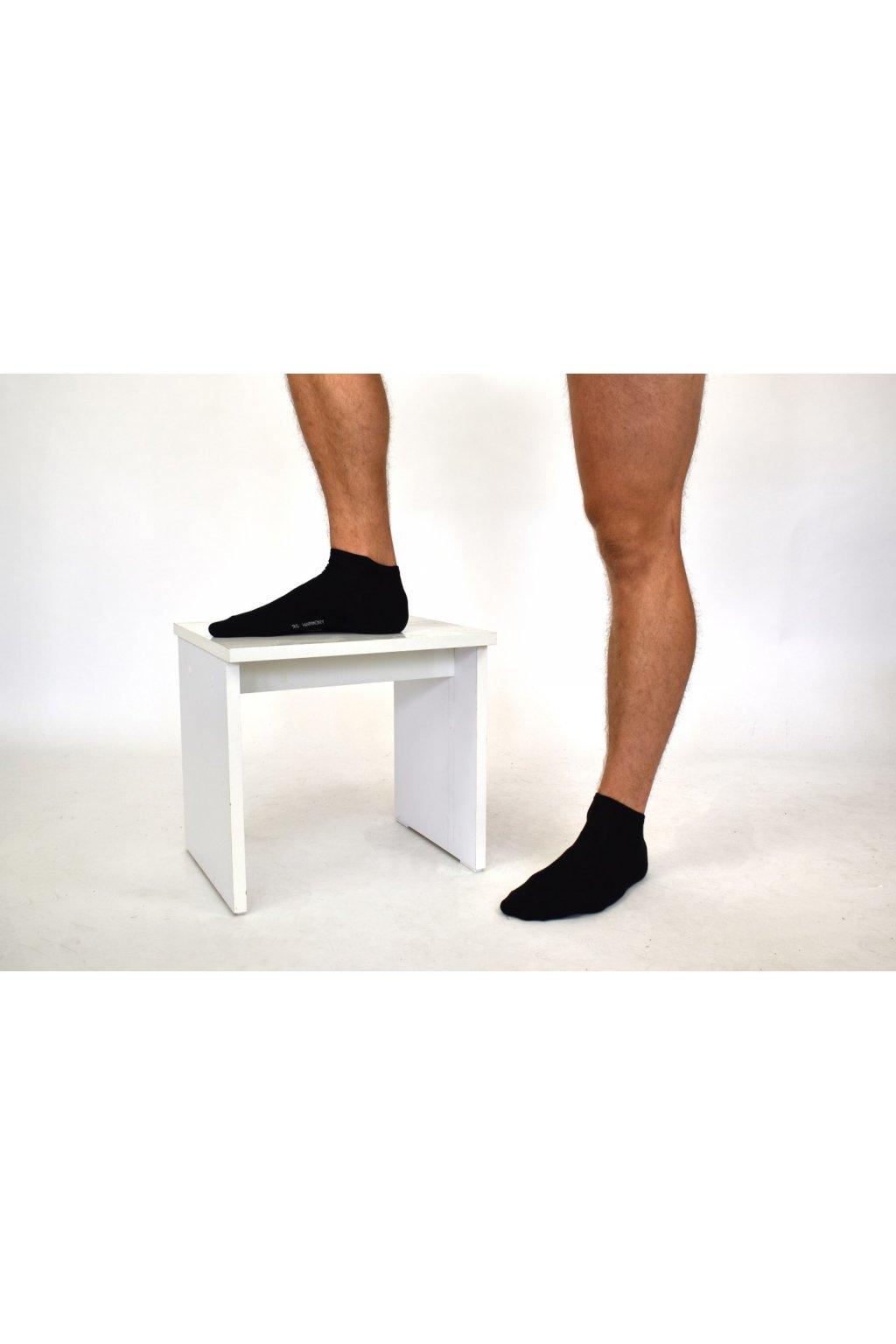 Pánske členkové ponožky čierne