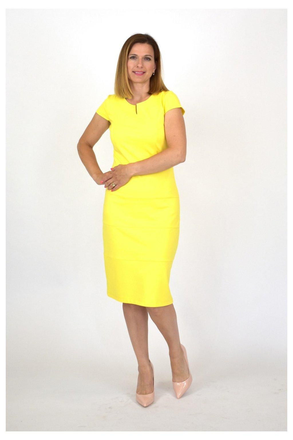 žlté biznis šaty