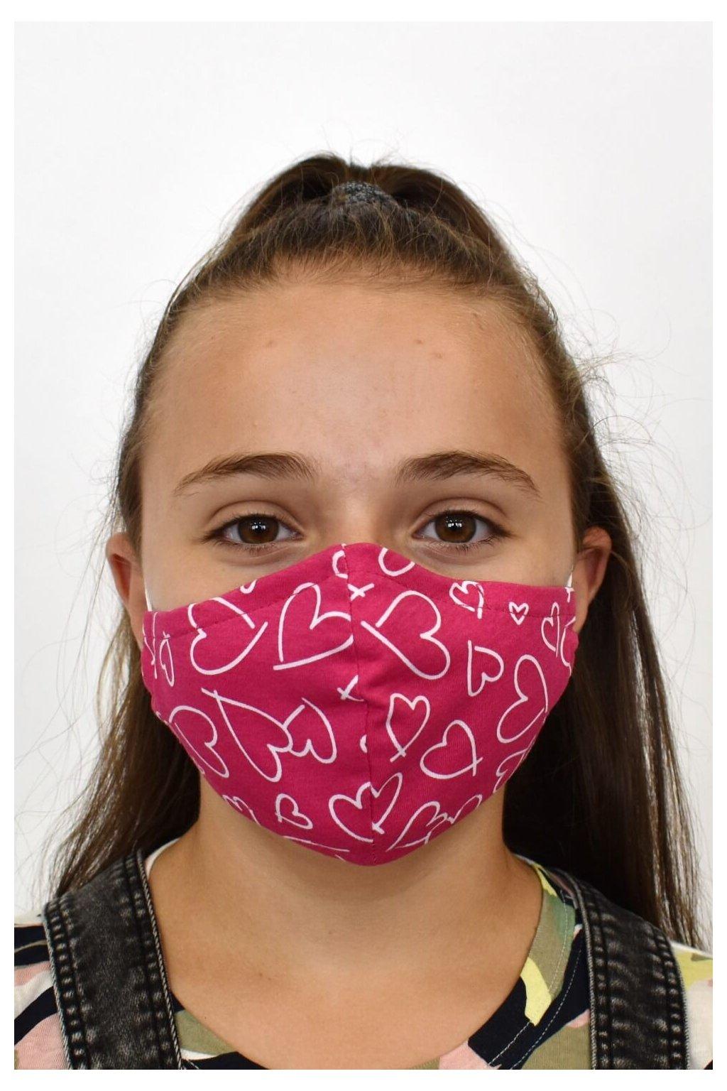 Ochranné rúško D pink