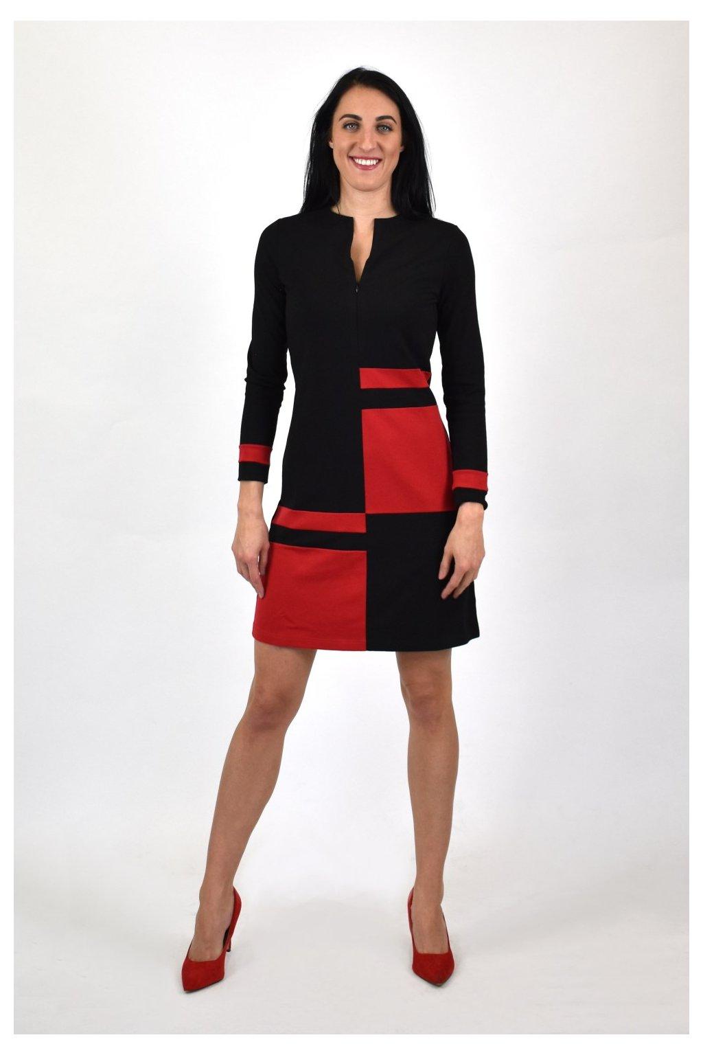 dámske červeno čierne šaty