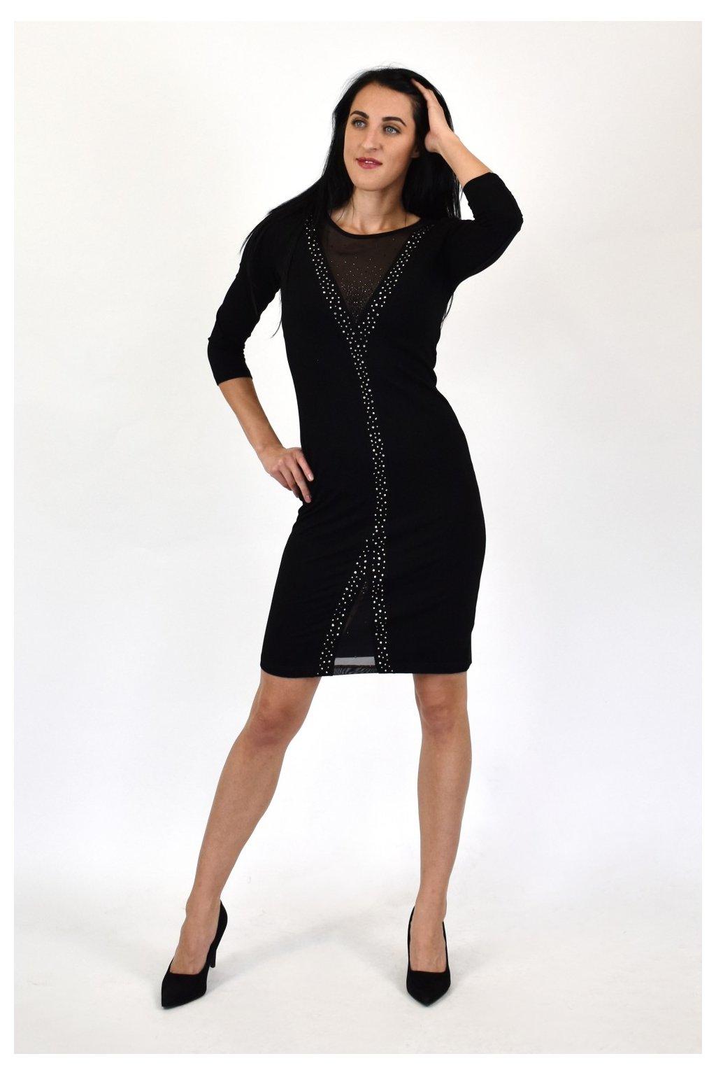 exkluzívne čierne šaty