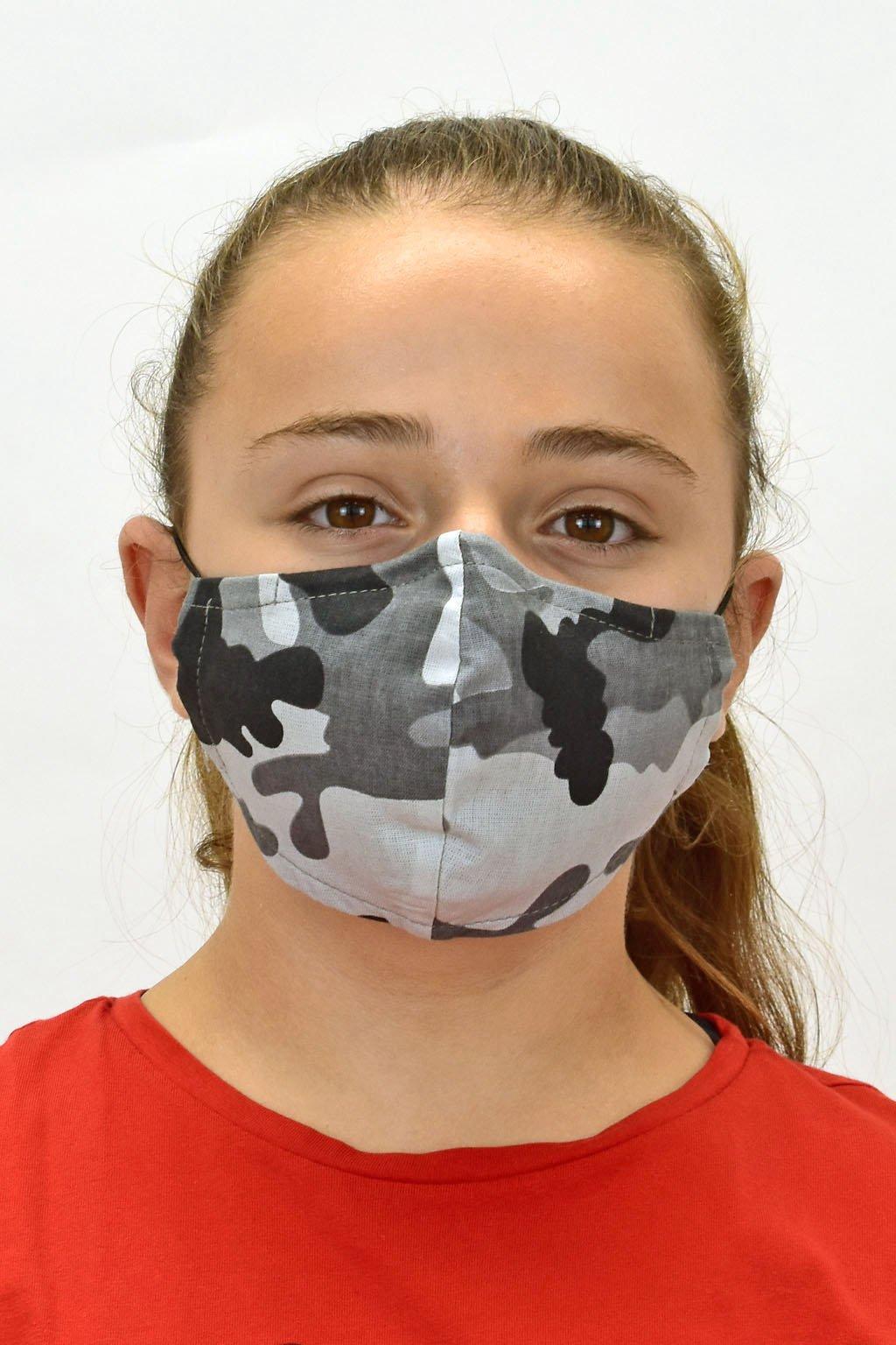 šedé rúško maskáč