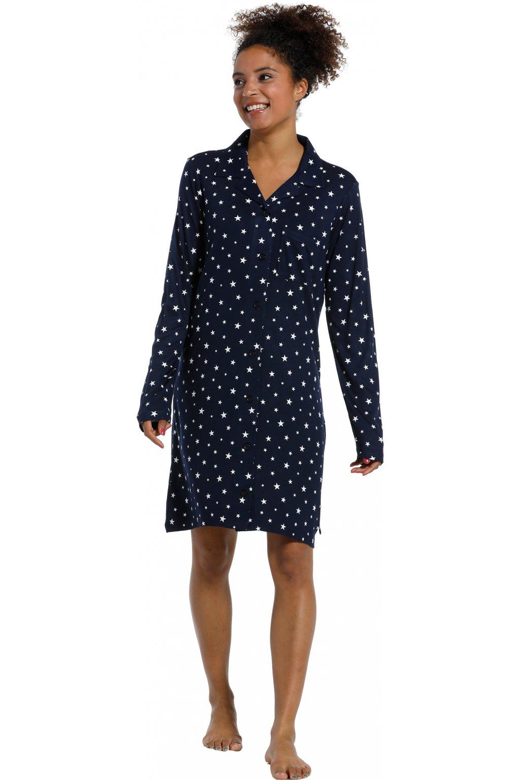 Dámska nočná košeľa s hviezdičkami