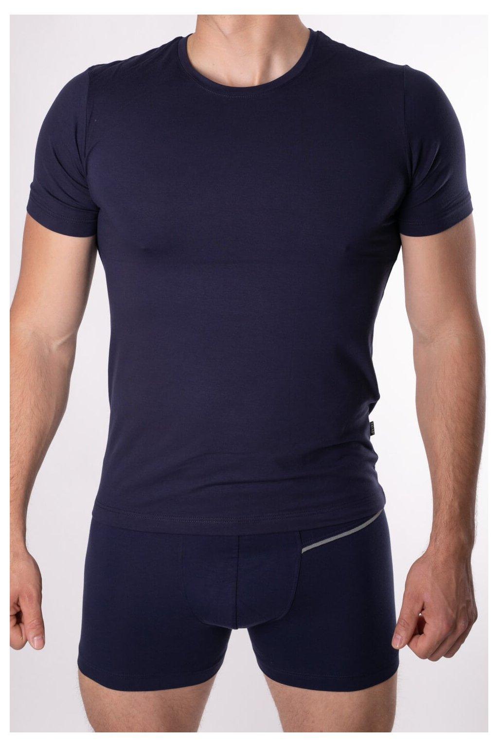 elastické tričko modré