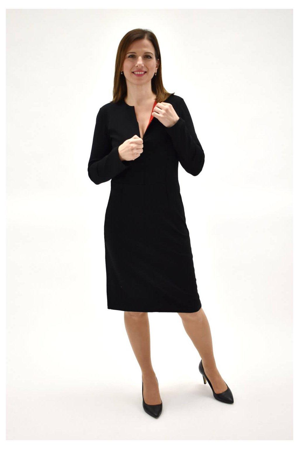 zvodné čierne šaty