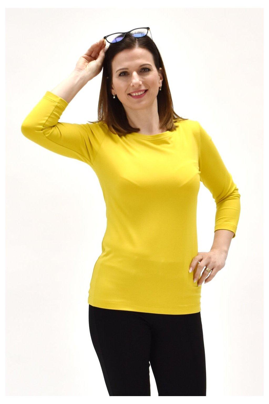 Žlté tričko 3/4 rukáv NATE TRIČKO