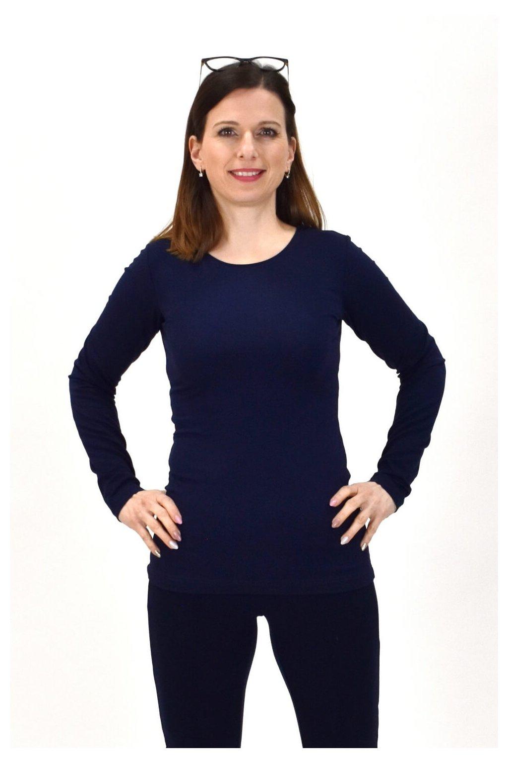 dámske modré tričko