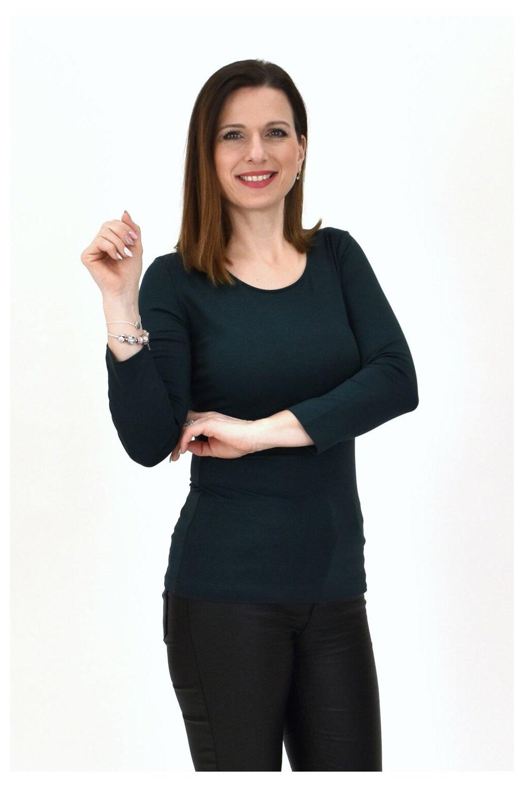 Smaragdovozelené tričko SINDA 3,4 7X6