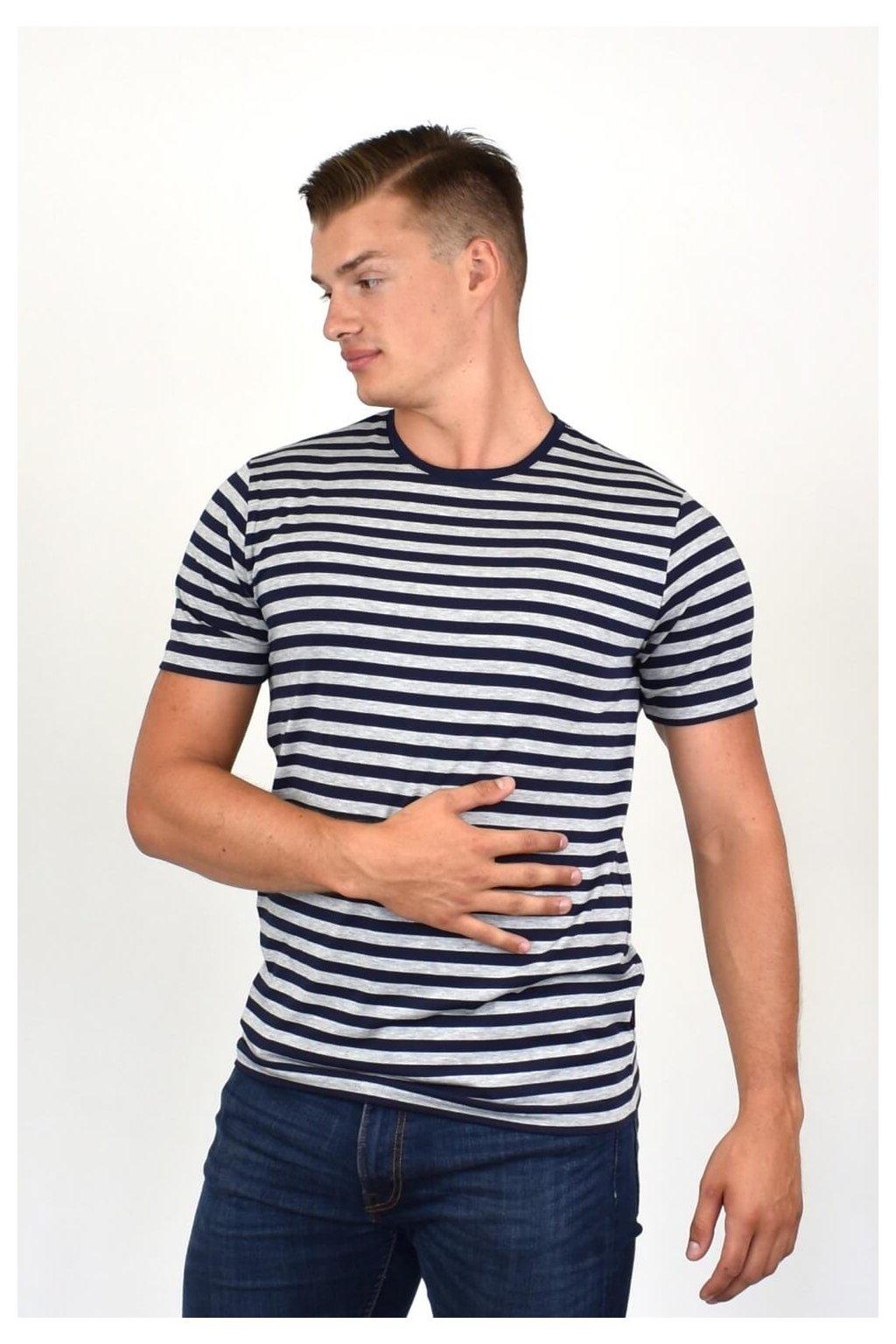 pánske tričko z prúžkom