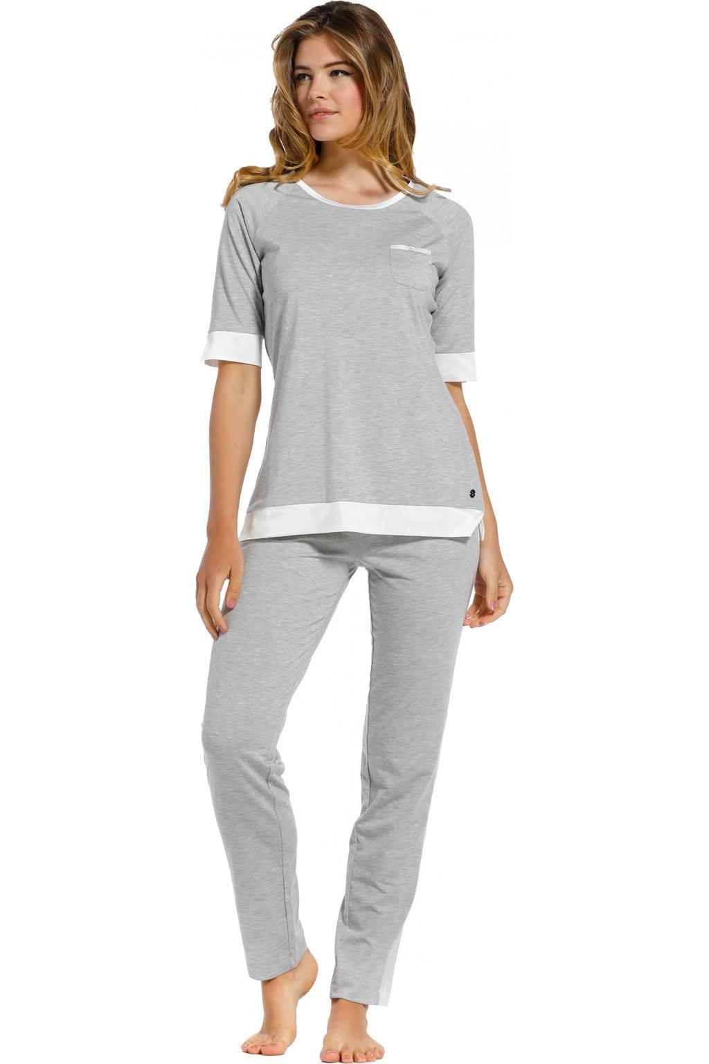 dámske pyžamo sivé