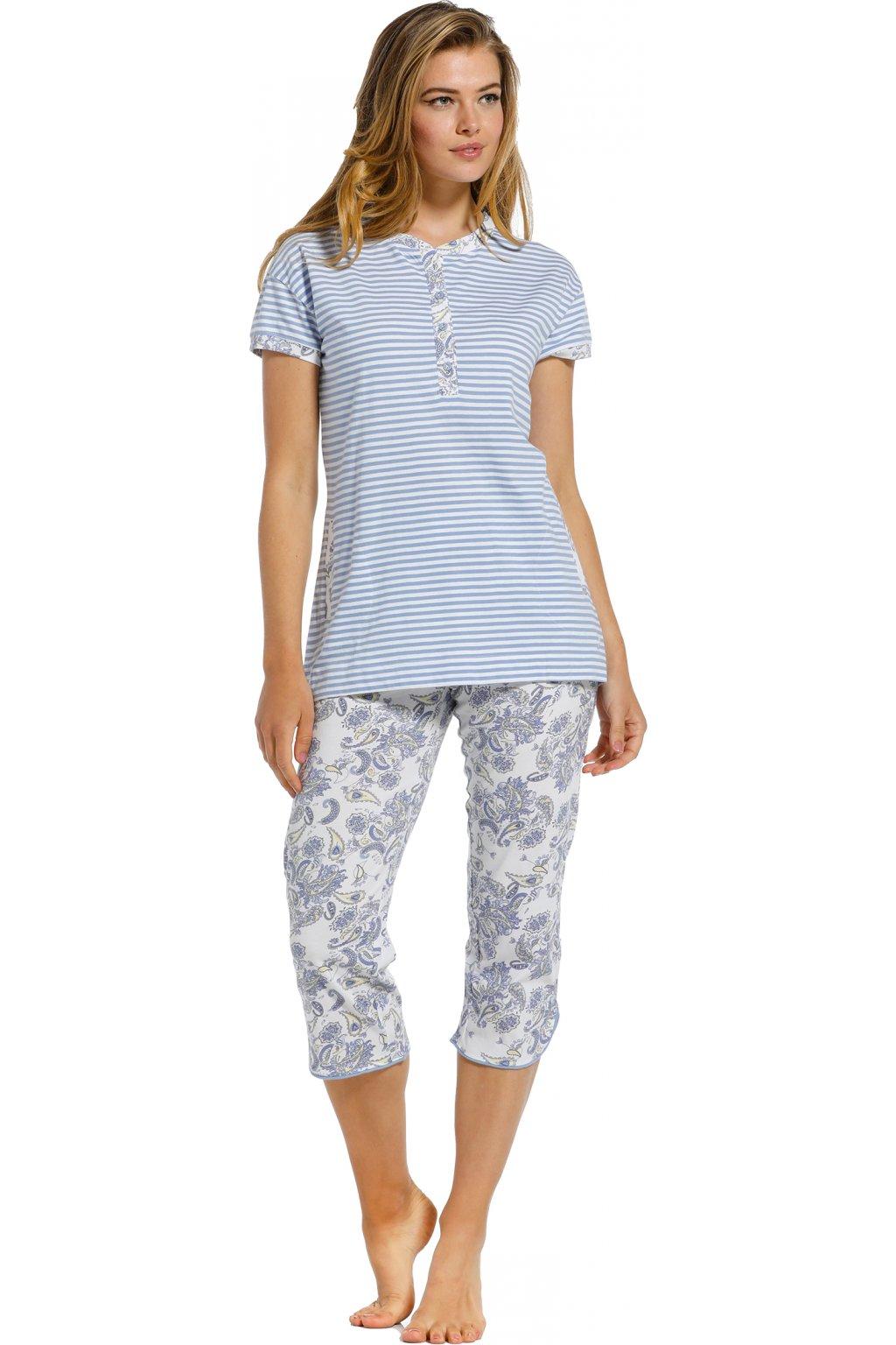 dámske bledomodré pyžamo