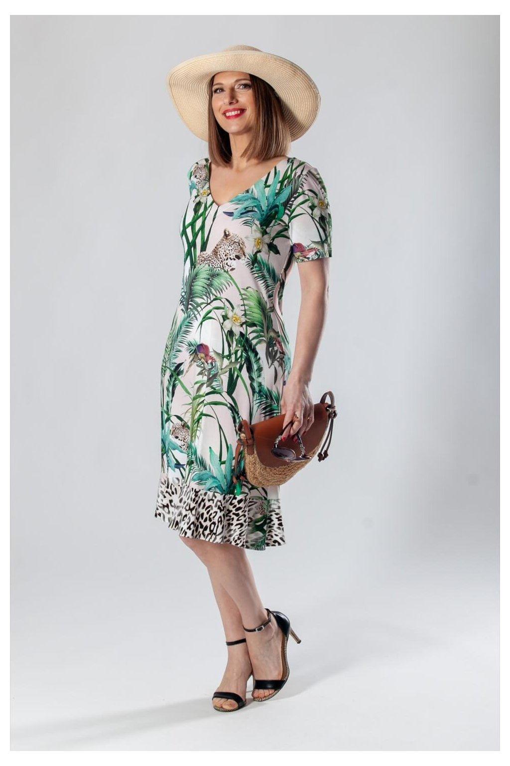 Potlačové šaty PEZA ŠAT KR LEO