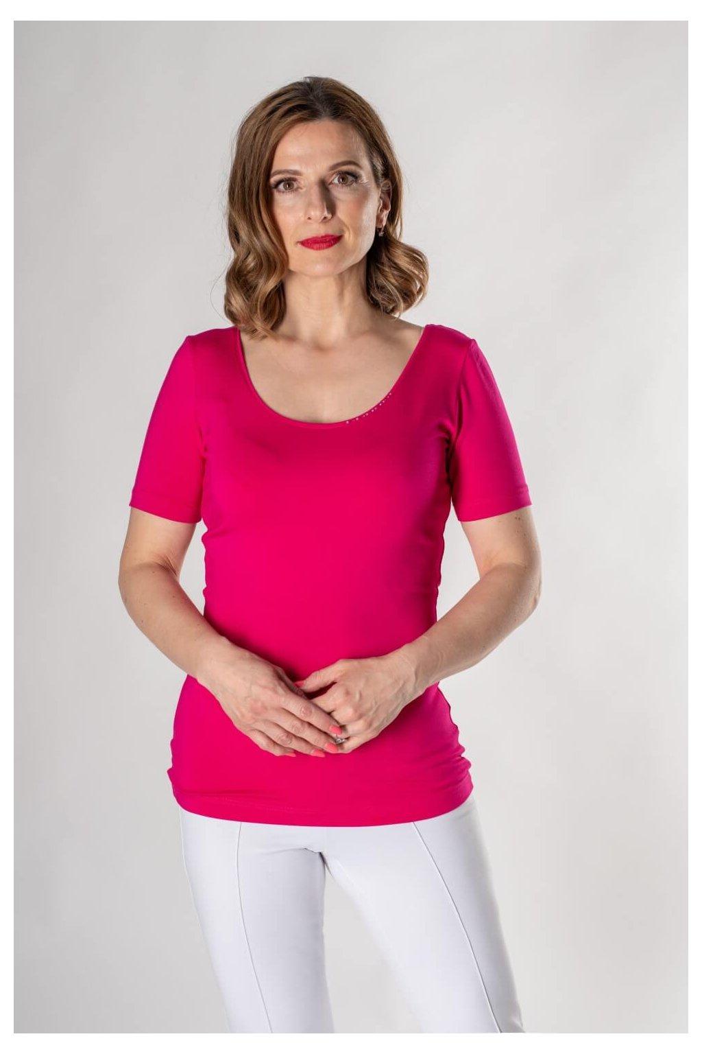Jednofarebné cyklamen tričko SW