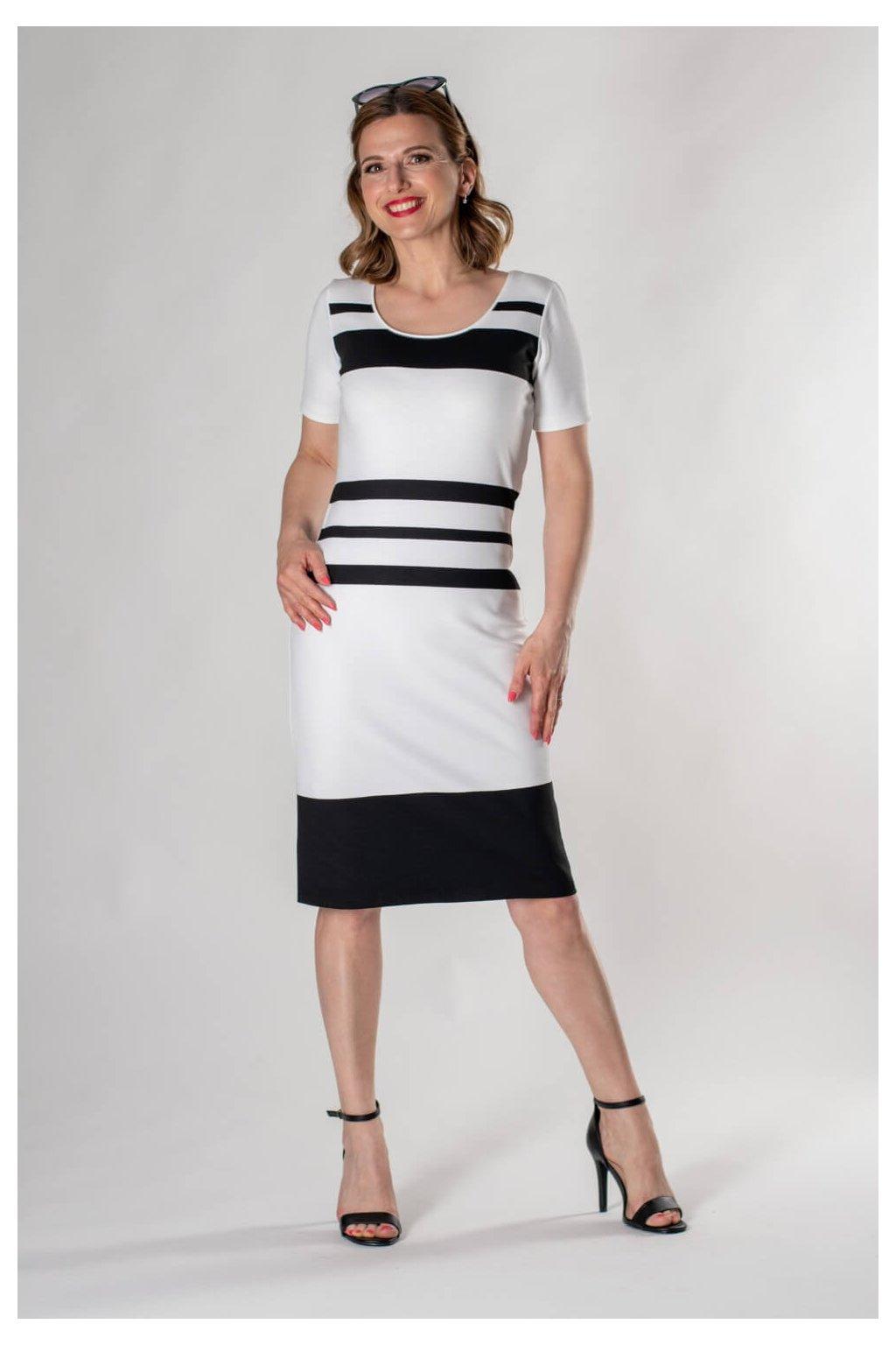 Vypan šaty lana pruh