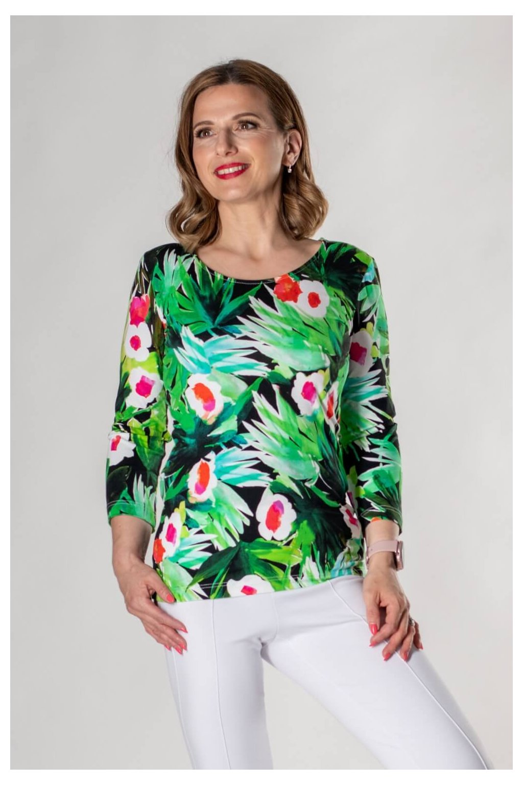 Tričko s potlačou Sinda tričko 3 4 GREEn