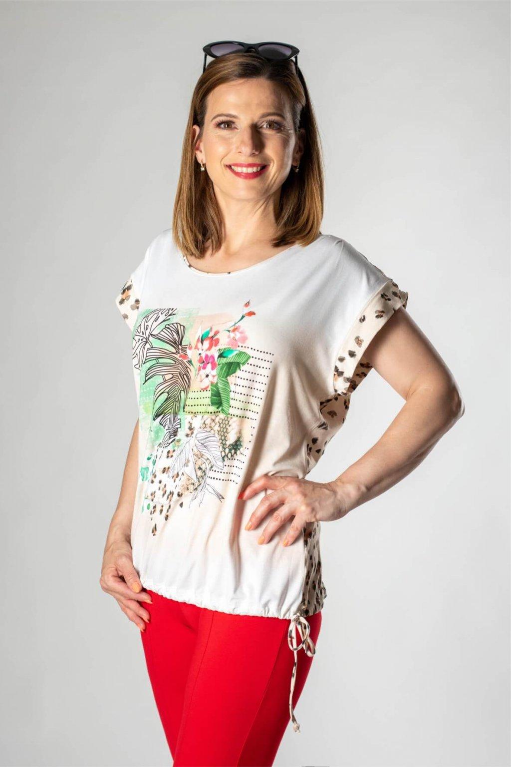 zvieracia potlač tričko