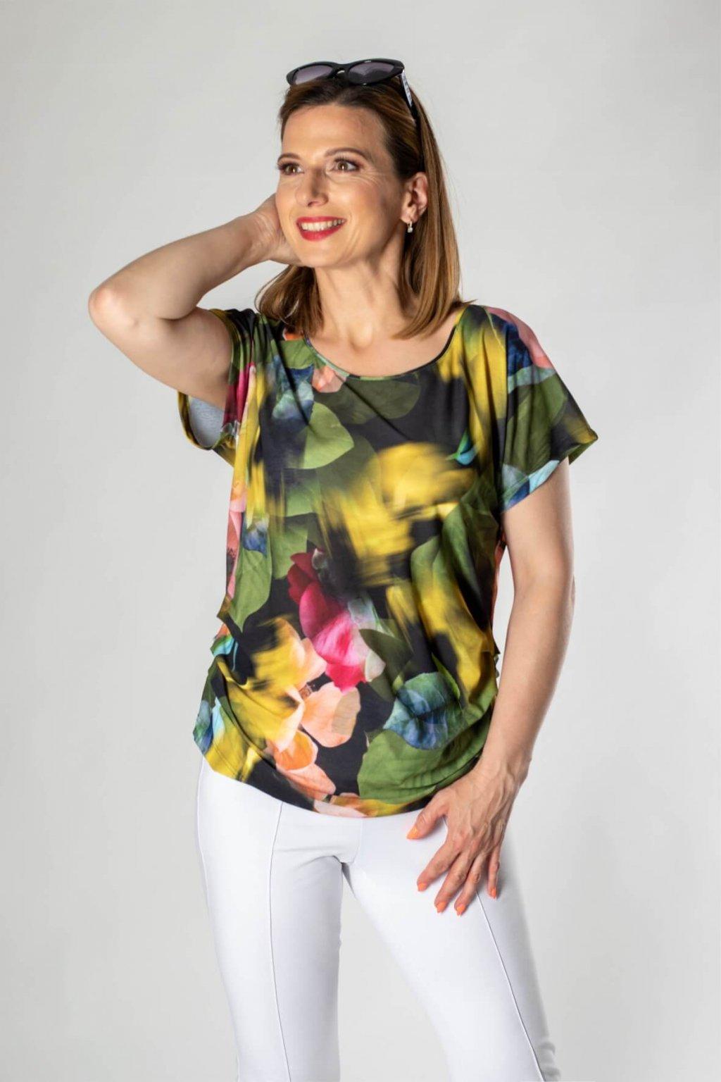 zelená potlač tričko
