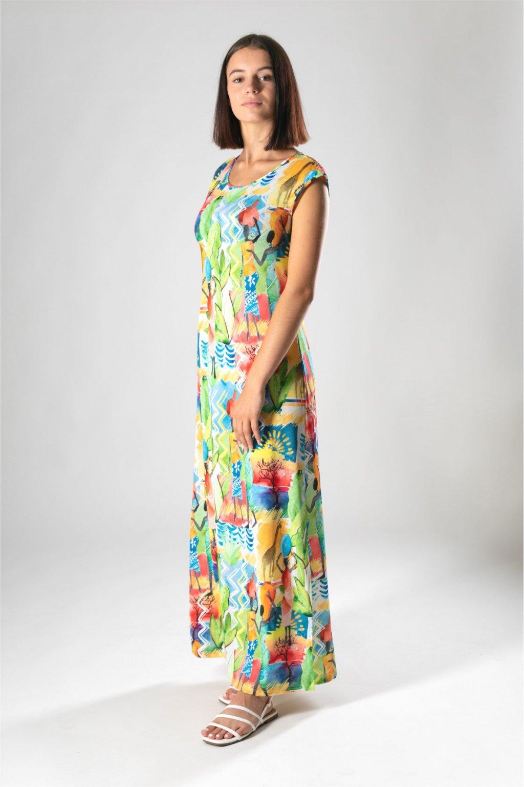 dlhé šaty s rázporkom