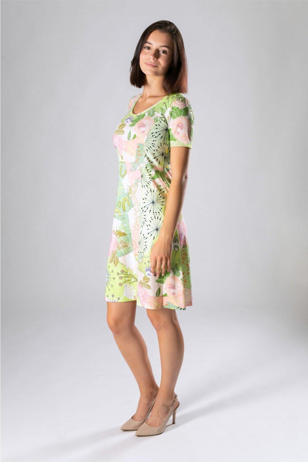 krátke letné šaty