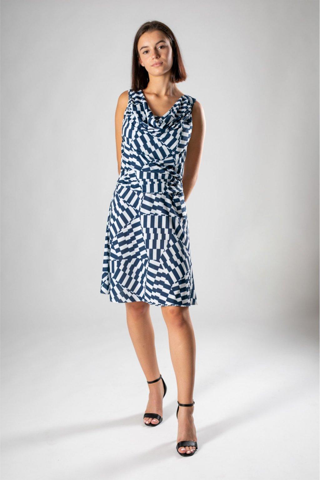 modro biele šaty