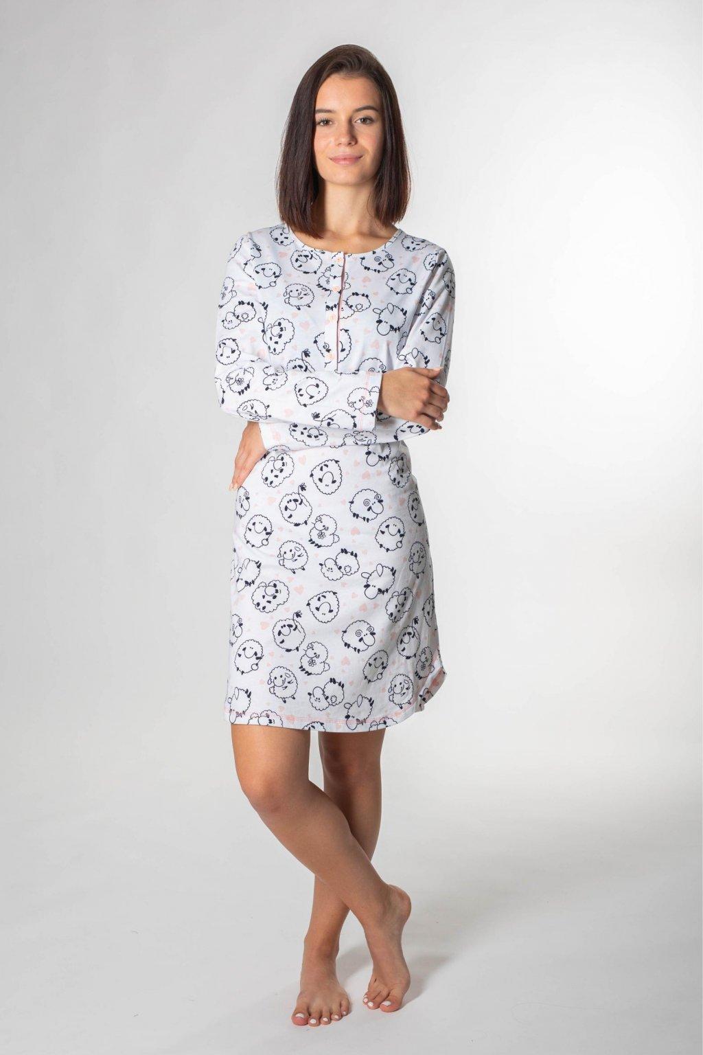 dámska nočná košeľa s ovcami