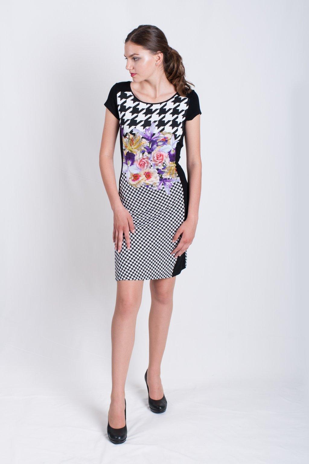 šaty z potlače