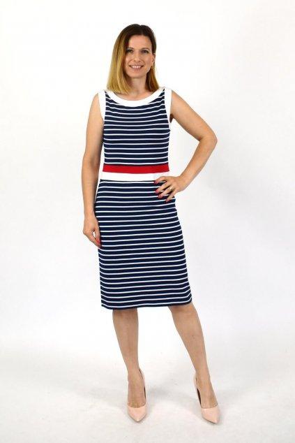 prúžkované šaty