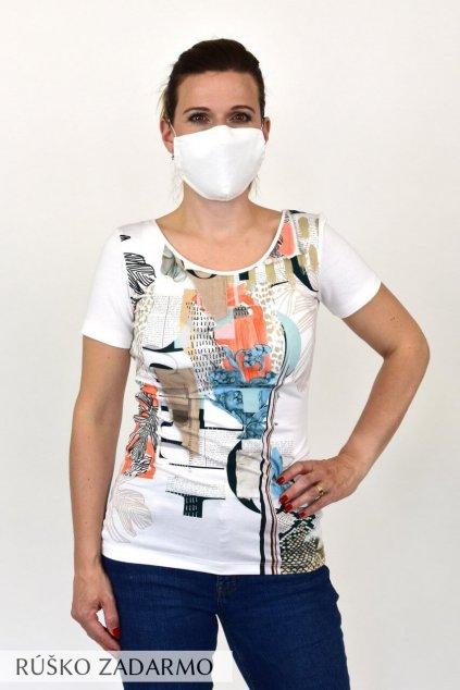 dámske tričko s rúškom favab