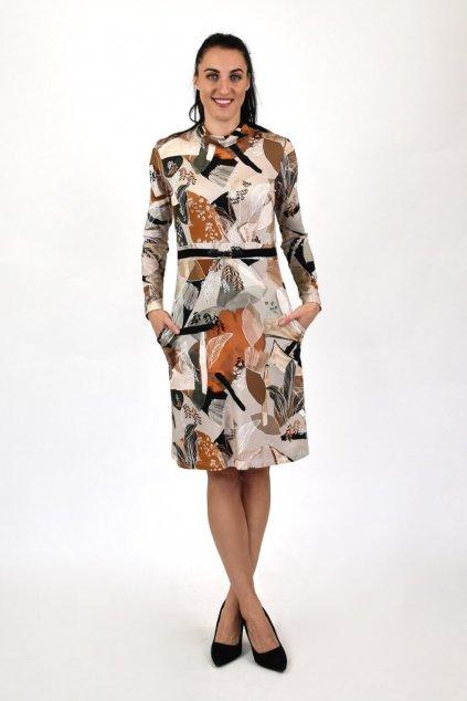 šaty so stojačikom