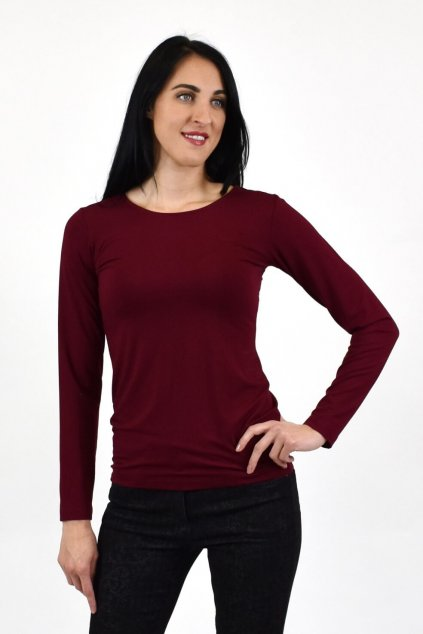 dámske bordové tričko
