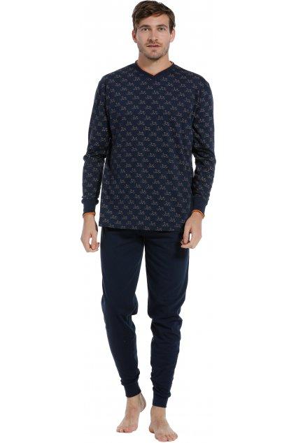 pánske pyžamo tmavomodré