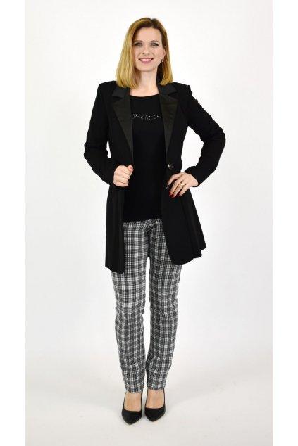 elegantné predĺžené čierne sako