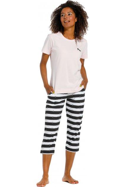 prúžkované capri pyžamo