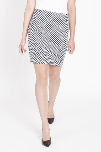 čierno-biela sukňa
