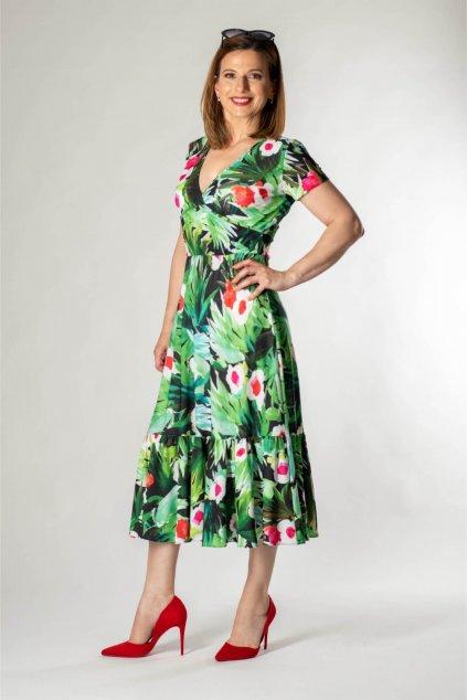 dámske kvetované šaty