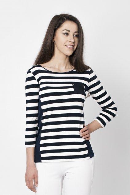 bielo-modré tričko