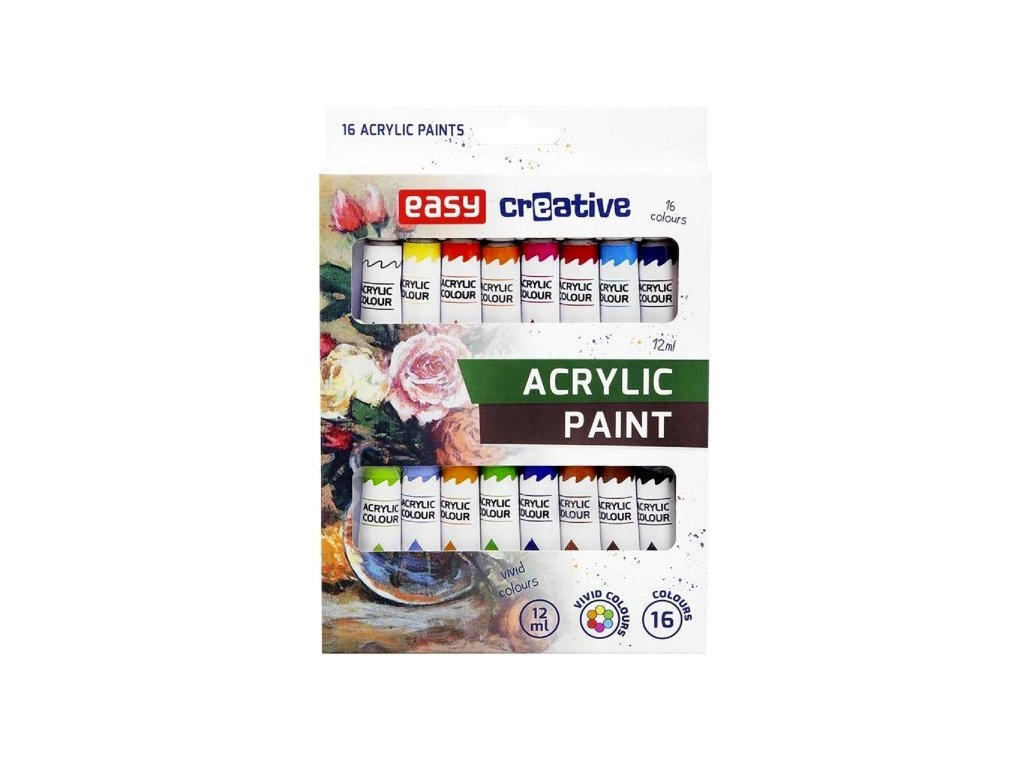 Acrylic paint set easy creative 16 barev 12 ml
